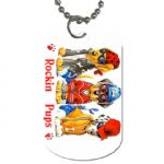 Rockin Pups Personalised Dog Tag